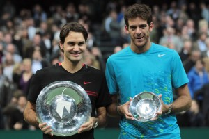 Delpo perdió con Federer 61 64. Getty images